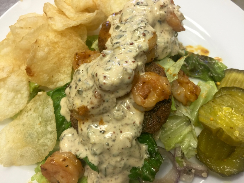 Fried green tomato and barbecue shrimp on house-made bread with our very own remoulade sauce.